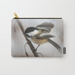 January Chickadee Carry-All Pouch