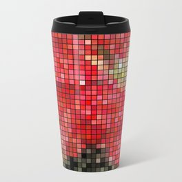 Mottled Red Poinsettia 1 Ephemeral Mosaic Travel Mug