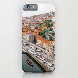 Beautiful Porto. Ribeira area and the Douro River. iPhone Case