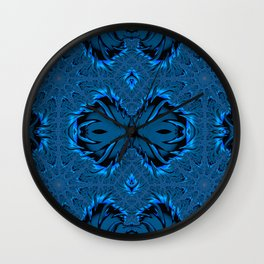 Frost Forming on The Lake Waters Fractal Abstract Wall Clock