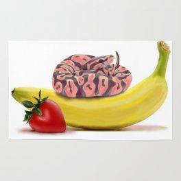 Snake on Banana Rug