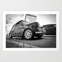 mini cooper Art Prints featuring Mini cooper  by Aaron Joslin Photography