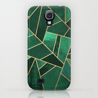Samsung Galaxy S4 Case featuring Emerald and Copper by Elisabeth Fredriksson