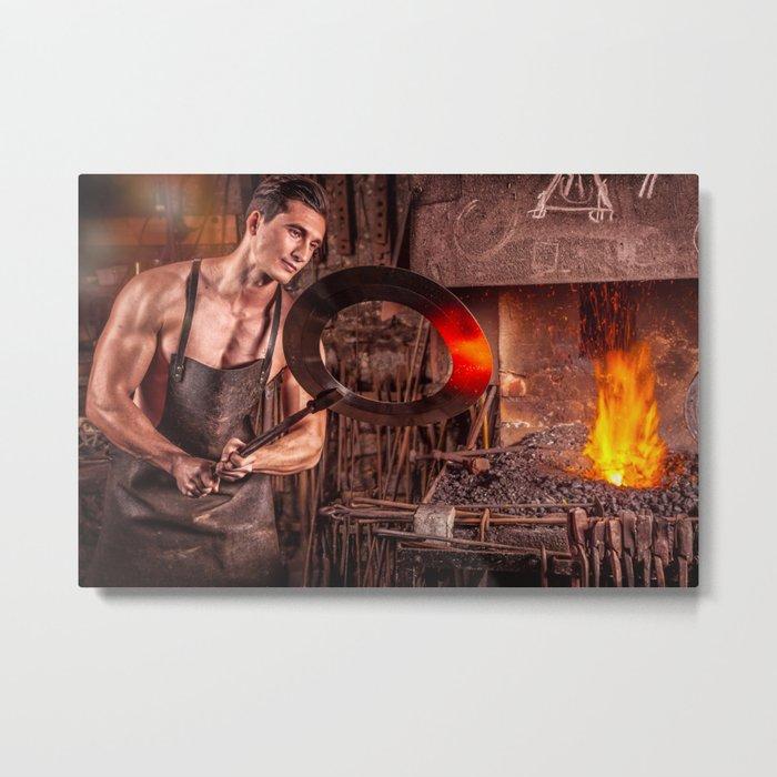 Sexy Blacksmith Metal Print
