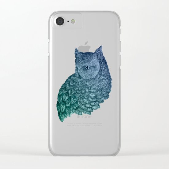 Ombre Owl II Clear iPhone Case
