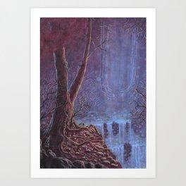 Hidden Waterfall Landscape Art Print