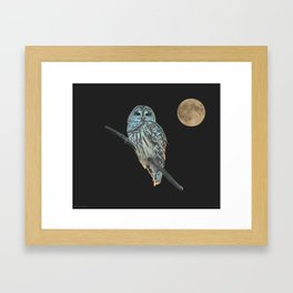 Owl, See the Moon Framed Art Print