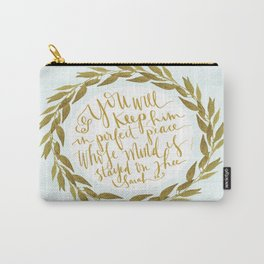 ISAIAH TWENTY SIX VERSE THREE II. (26:3) JUBIL PRINTS Carry-All Pouch