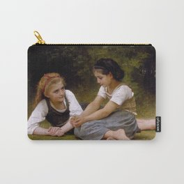"""William-Adolphe Bouguereau """"The Nut Gatherers"""" Carry-All Pouch"""