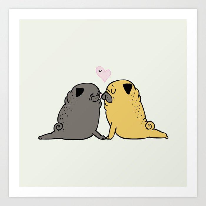 Pug Yoga Lover Art Print