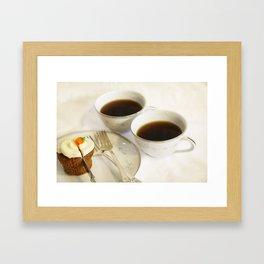 Cake and Coffee Framed Art Print