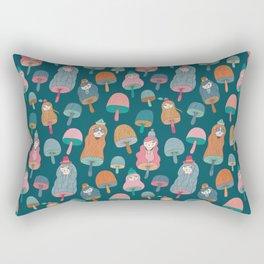 Pattern Project #49 / Mushroom Girls Rectangular Pillow