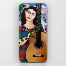 Violeta Parra collage iPhone Skin