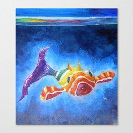 Fish Pup Canvas Print