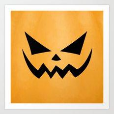 Scary Jack-O-Lantern Art Print
