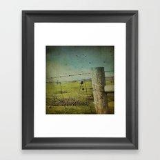 Wild West Fence  Framed Art Print