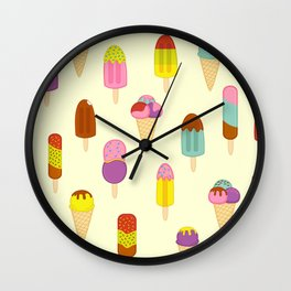 Ice Pops, Cream and Lollies Wall Clock