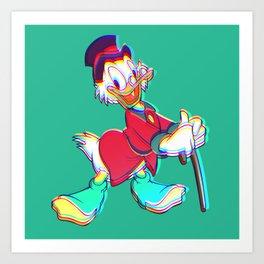 Christmas Scrooge Art Print
