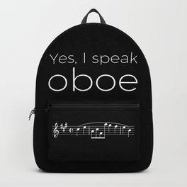 Yes, I speak oboe (2) (black) Backpack