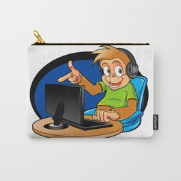 Monkey and the computer Carry-All Pouch