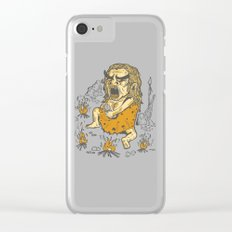 Prehistoric Pyromaniac Clear iPhone Case