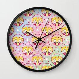 Usagi Tsukino VS Sailor Moon pattern Wall Clock