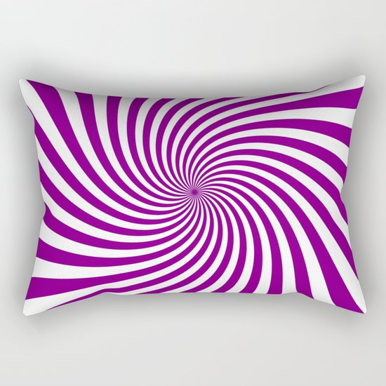 Swirl (Purple/White) Rectangular Pillow