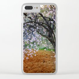 """""""Flowering Almond"""". At Sunset Clear iPhone Case"""