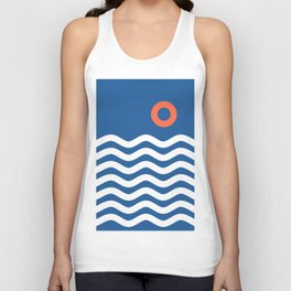 Nautical 03 Seascape Unisex Tank Top