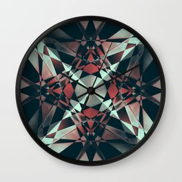 Crystal Convolution Wall Clock