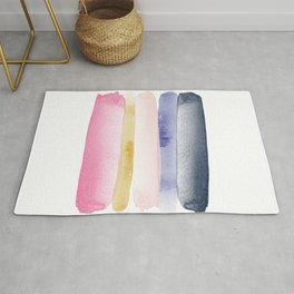 Linear Brushstroke Ombre Abstract Rug