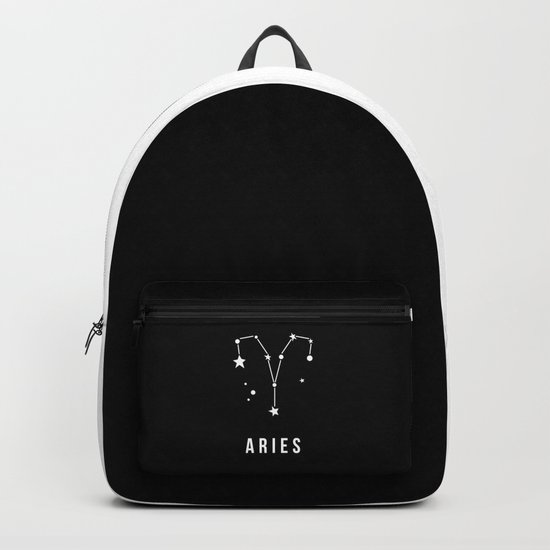 Aries Zodiac Sign Quote Backpack