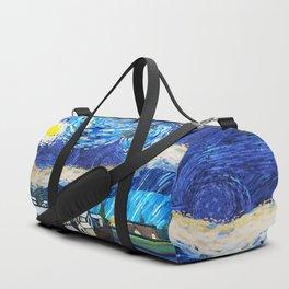 Tardis Art Starry City Night Duffle Bag