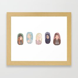 Skam // Girls Framed Art Print