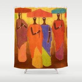 American American Masterpiece 'African Royalty' by Ellis Wilson Shower Curtain