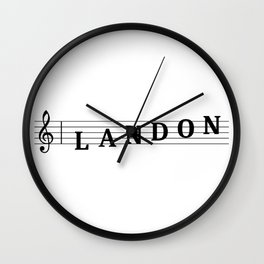 Name Landon Wall Clock