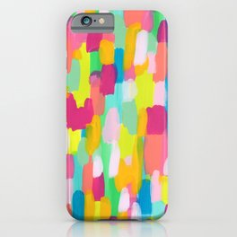 Meet Me In The Rainbow Woods - colorful abstract painting pattern iPhone Case