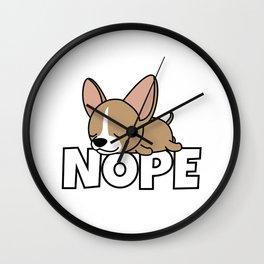 Nope Chihuahua Dog Wall Clock