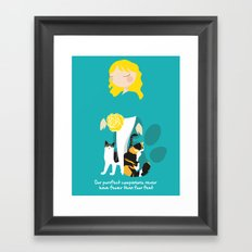 Endo Paw Pals - Commissioned Work Framed Art Print