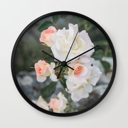 Garden Rose at a Chateau Garden in France | Floral Wall Art Photography Wall Clock