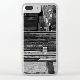 Somebody's glass of wine Clear iPhone Case