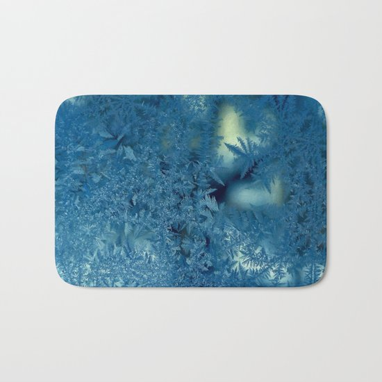Frost patterns Bath Mat