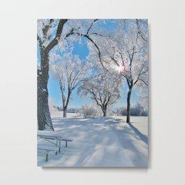 Icy Shadows Metal Print