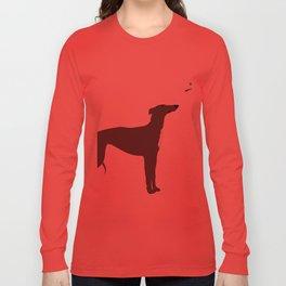 Whippet Dog Long Sleeve T-shirt