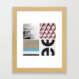 Graphic Quadrant 2 Framed Art Print