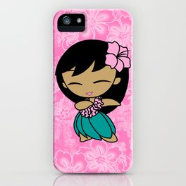 Aloha Honeys Hawaiian Hula Girl Cartoon iPhone Case