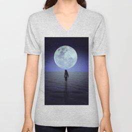 Moon alk Unisex V-Neck