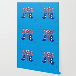 Love birds blue Wallpaper