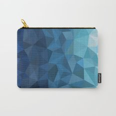 blue geometric Carry-All Pouch