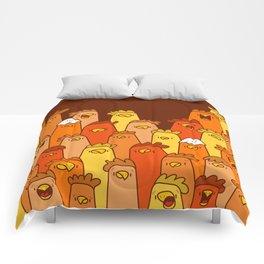Pile of Clucks Comforters